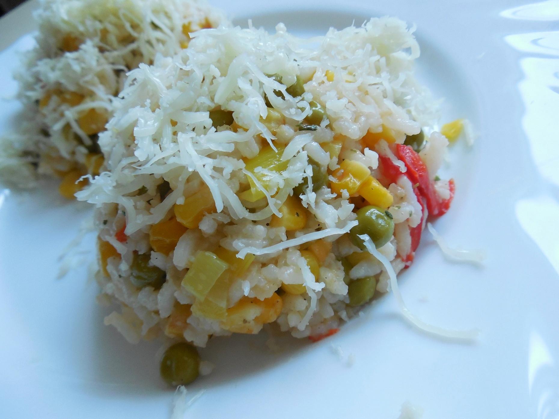 Zeleninové rizoto se sýrem