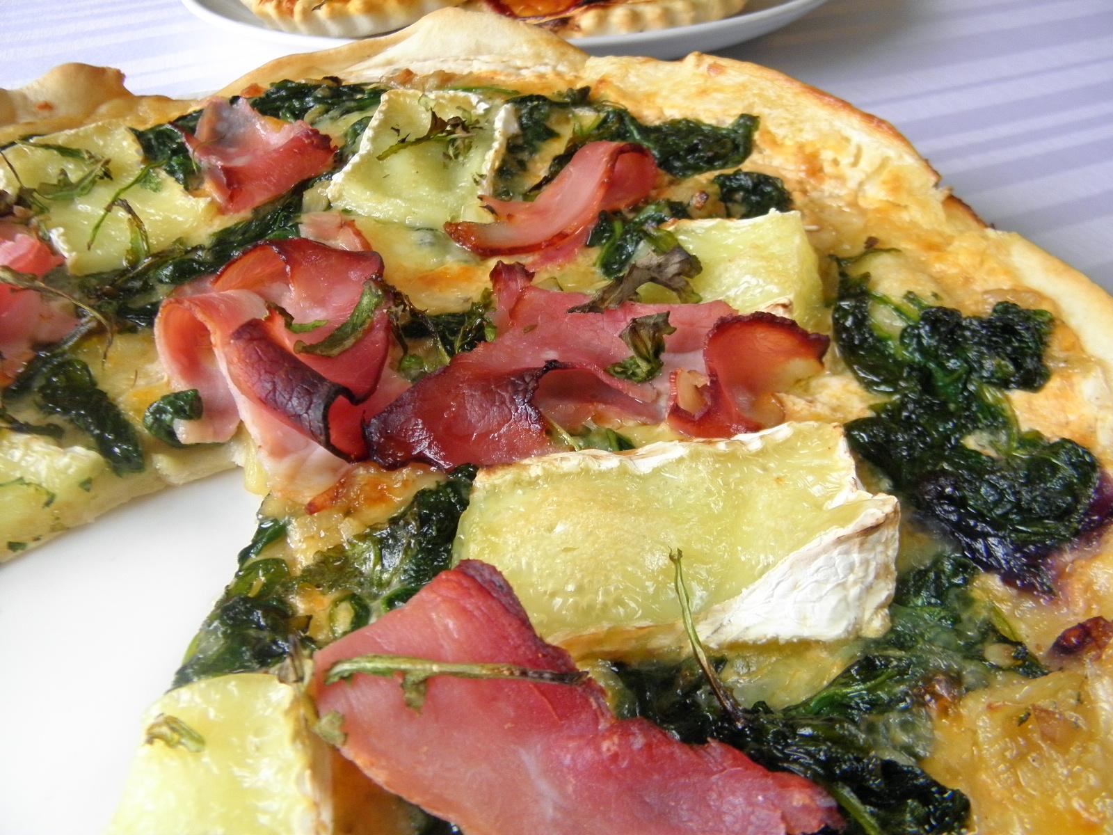 Domácí špenátová pizza
