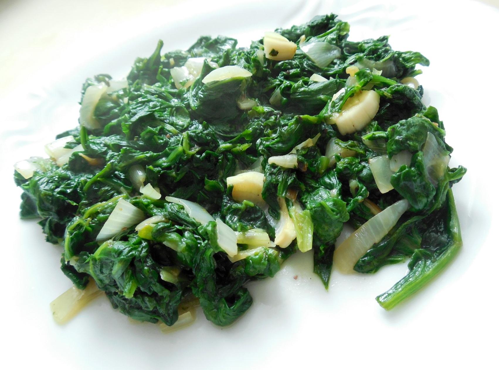 Fotografie receptu: Příloha z čerstvého špenátu