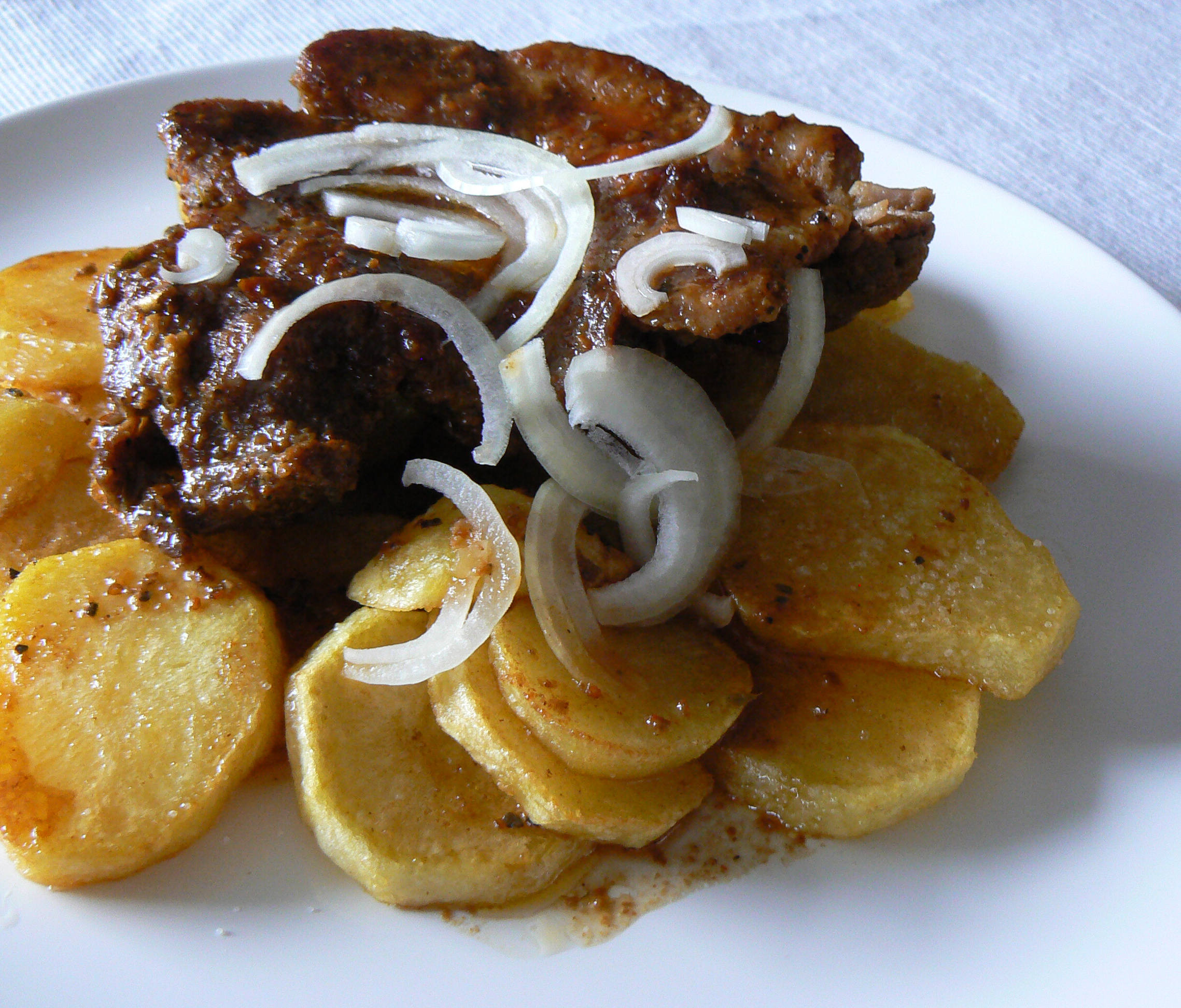 Fotografie receptu: Přírodní plátky vepřové krkovice