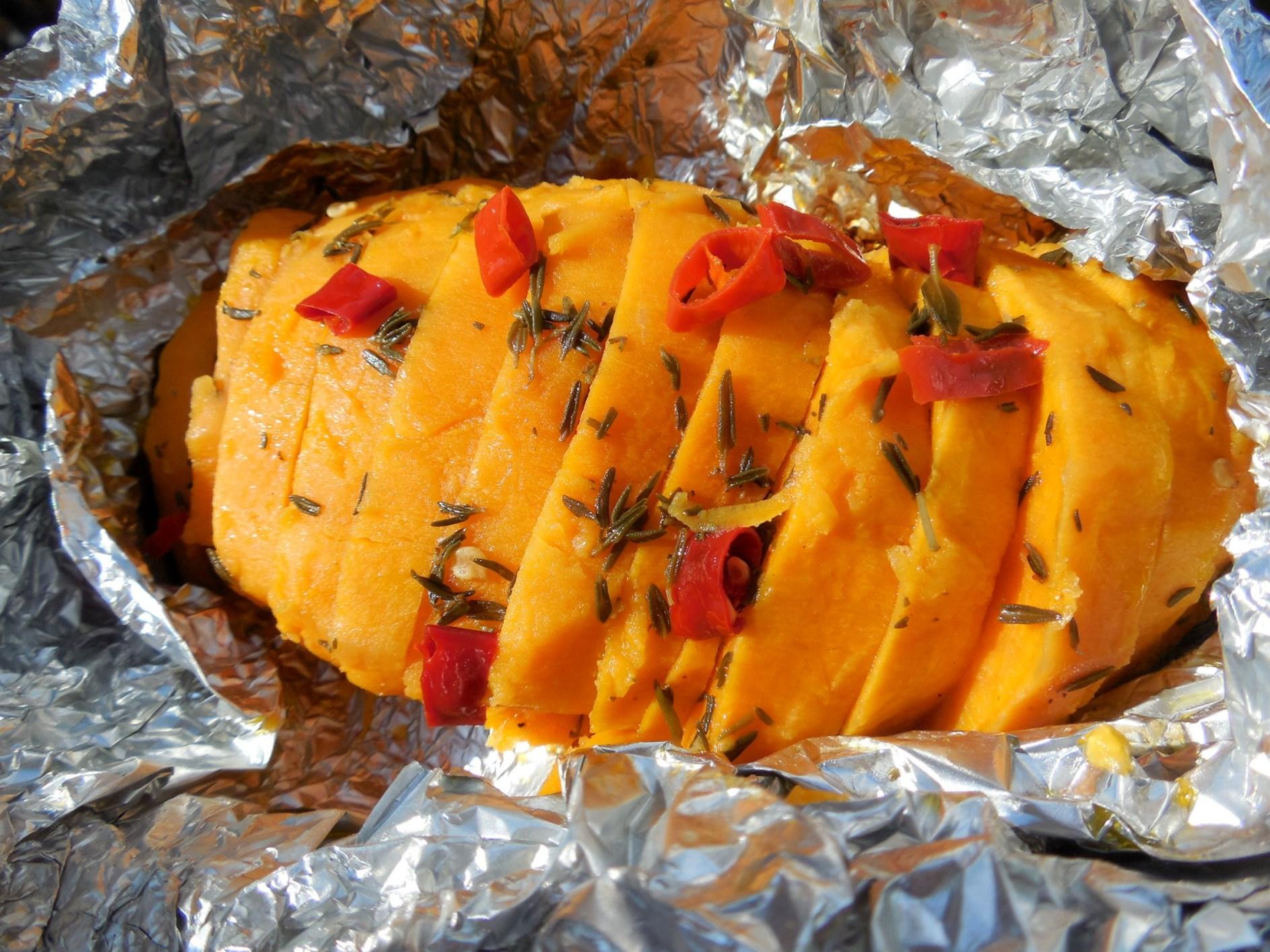 Fotografie receptu: Pikantní grilované batáty