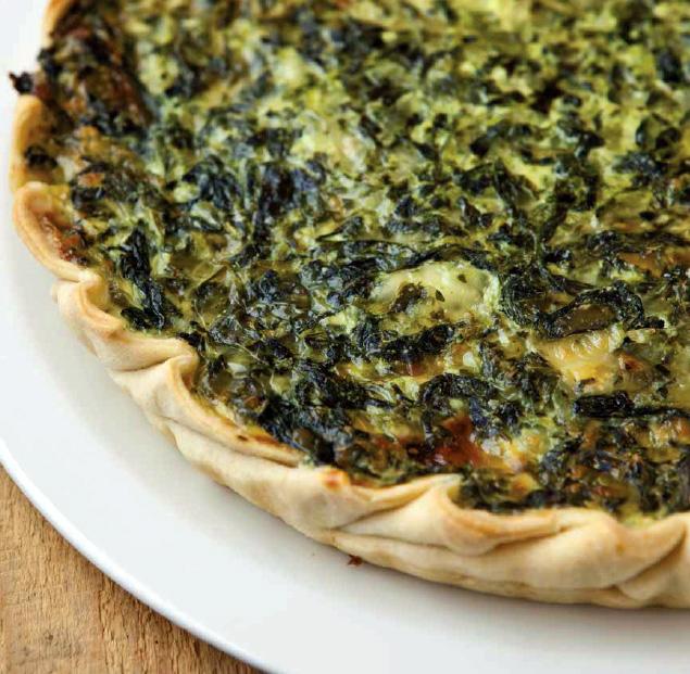 Fotografie receptu: Křehký špenátový koláč