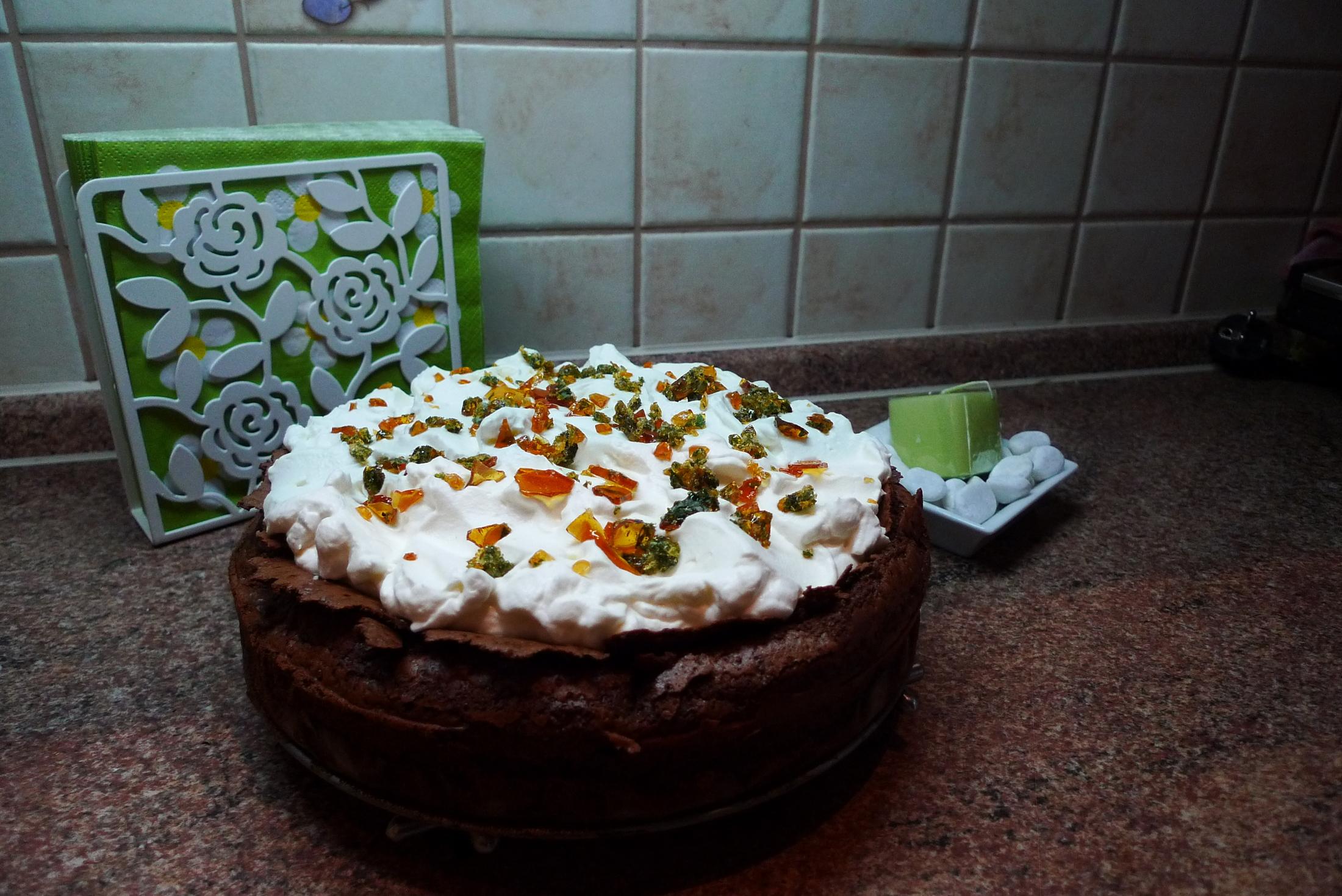 Čokoládový mátový dort