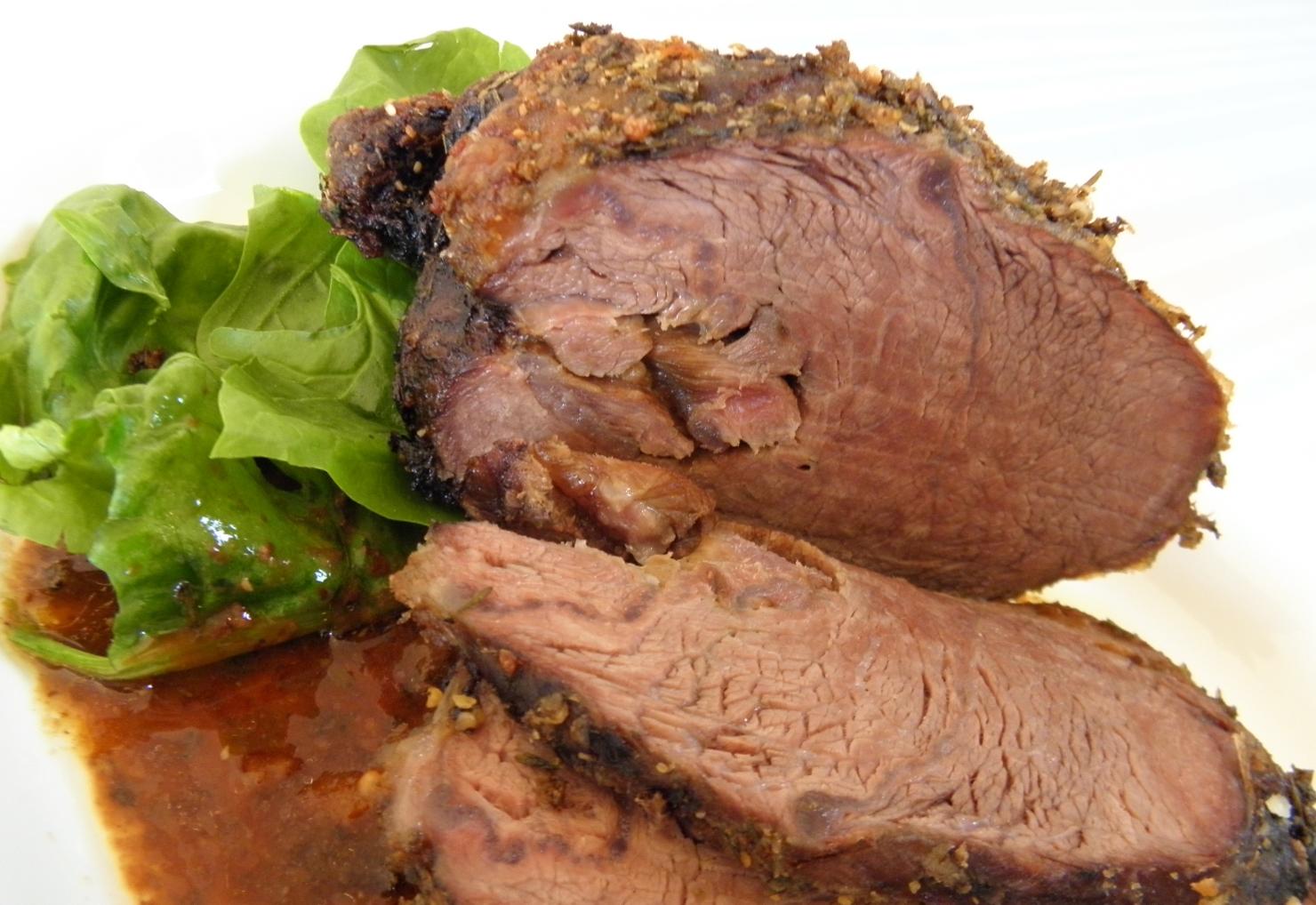 Fotografie receptu: Pečené hovězí na hořčici