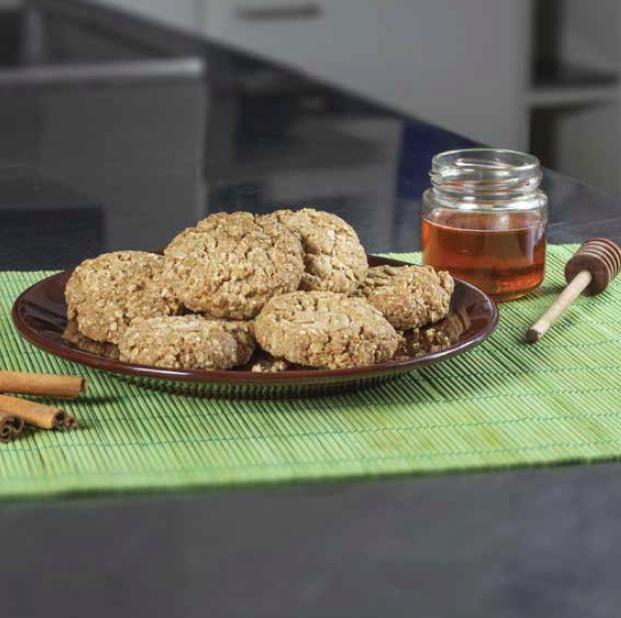 Ovesné sušenky s medem a skořicí