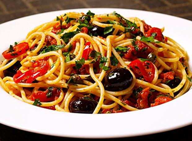Barilla Spaghetti s Puttanesca omáčkou