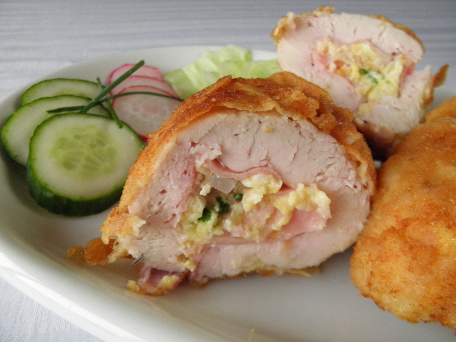 Fotografie receptu: Smažené kuřecí závitky