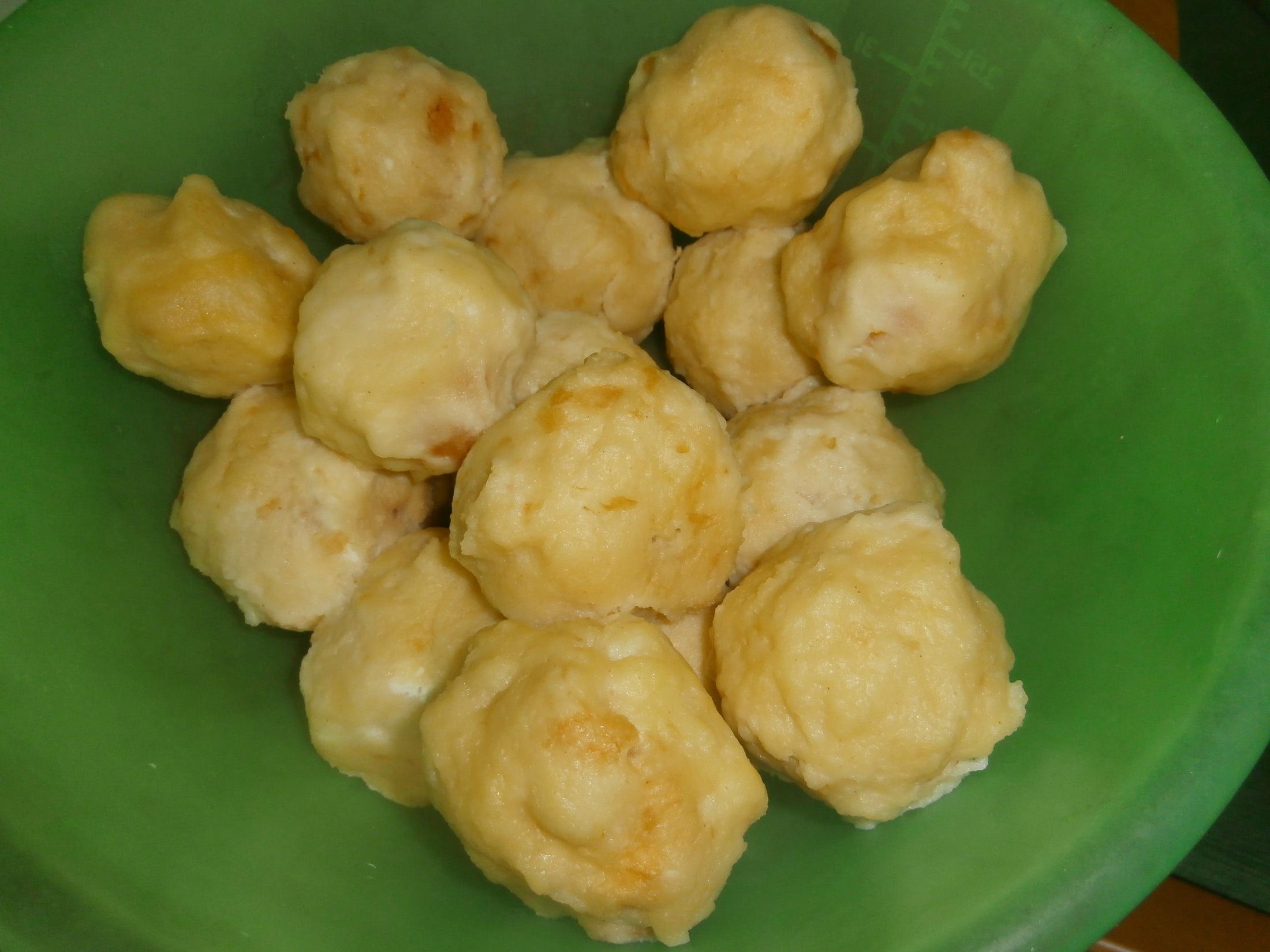 Fotografie receptu: Tvarohové meruňkové knedlíky