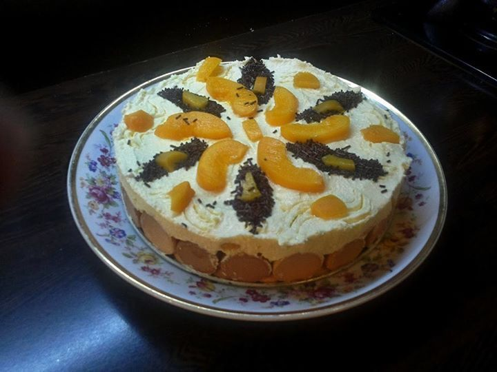Tvarohová dorta s ovocem