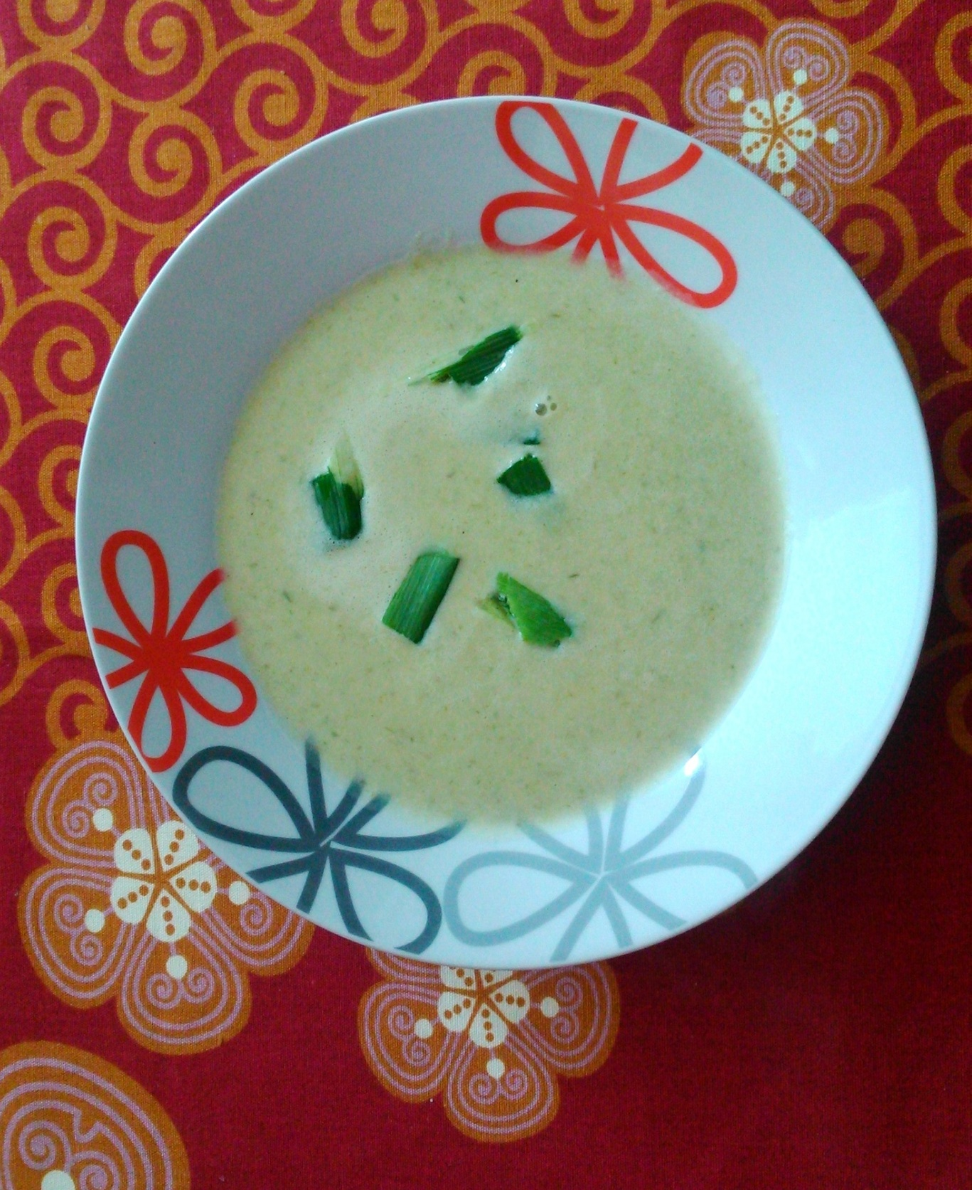 Krémová pórková polévka se smetanou