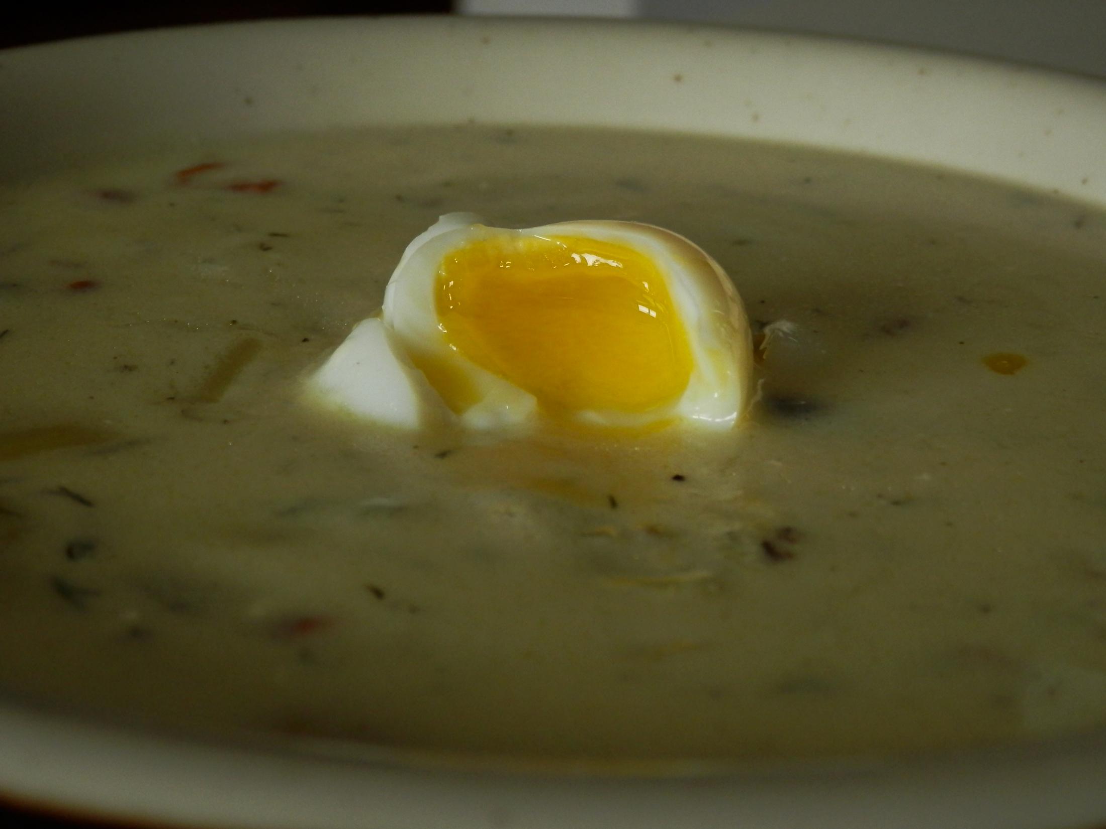 Fotografie receptu: Kulajda s křepelčími vejci