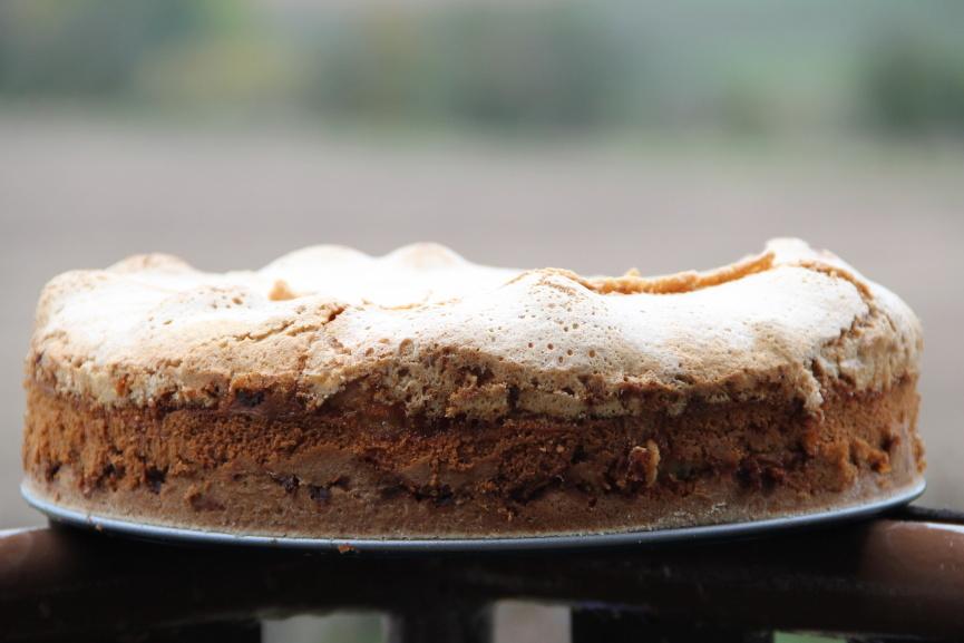 Tvarohovo-jablečný koláč se sněhovou čepicí