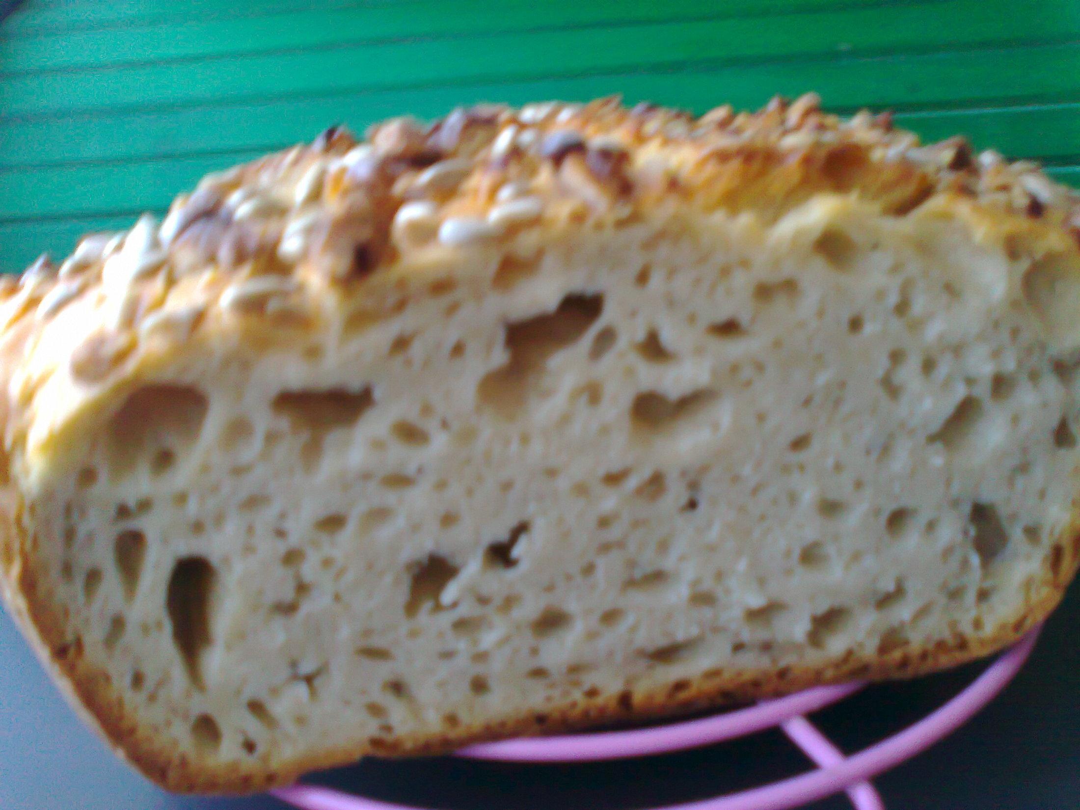 Fotografie receptu: Podmáslový chléb s ořechy