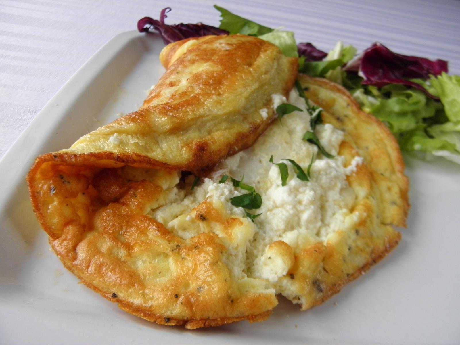 Rybí omeleta se sýrem