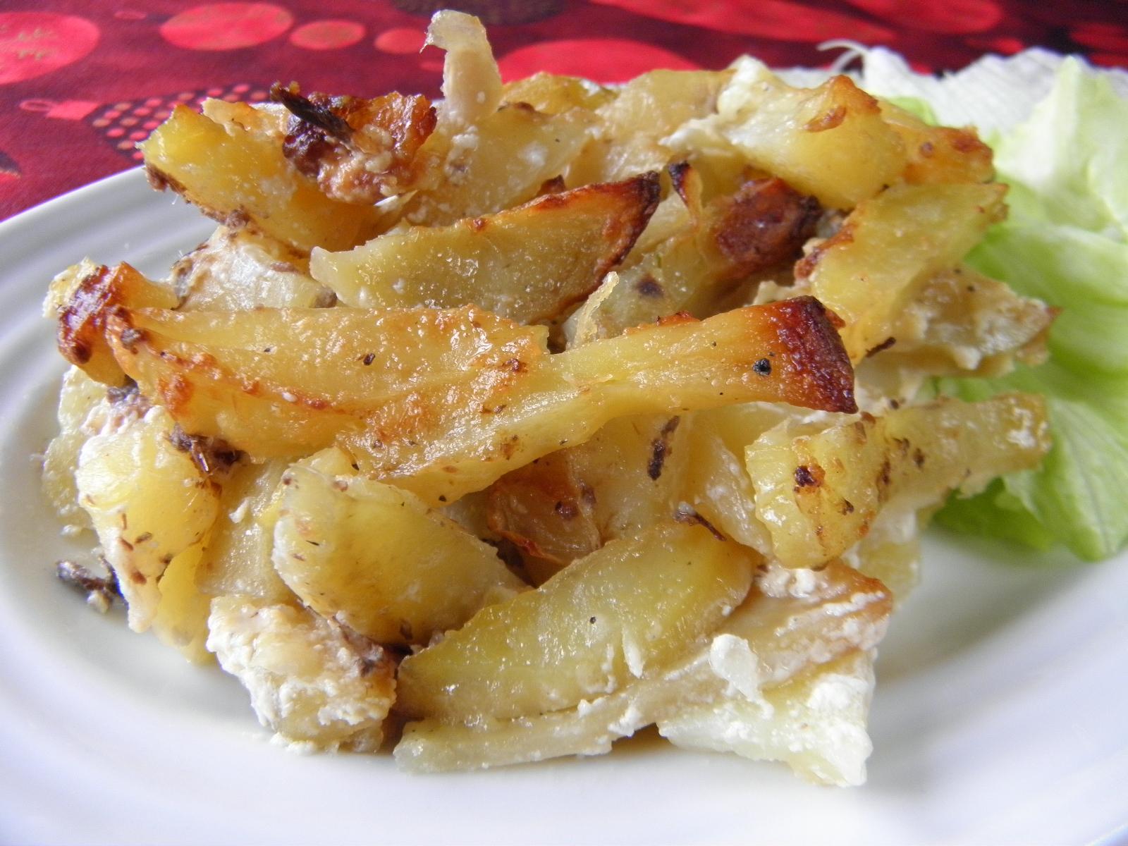 Smetanové brambory s ančovičkami