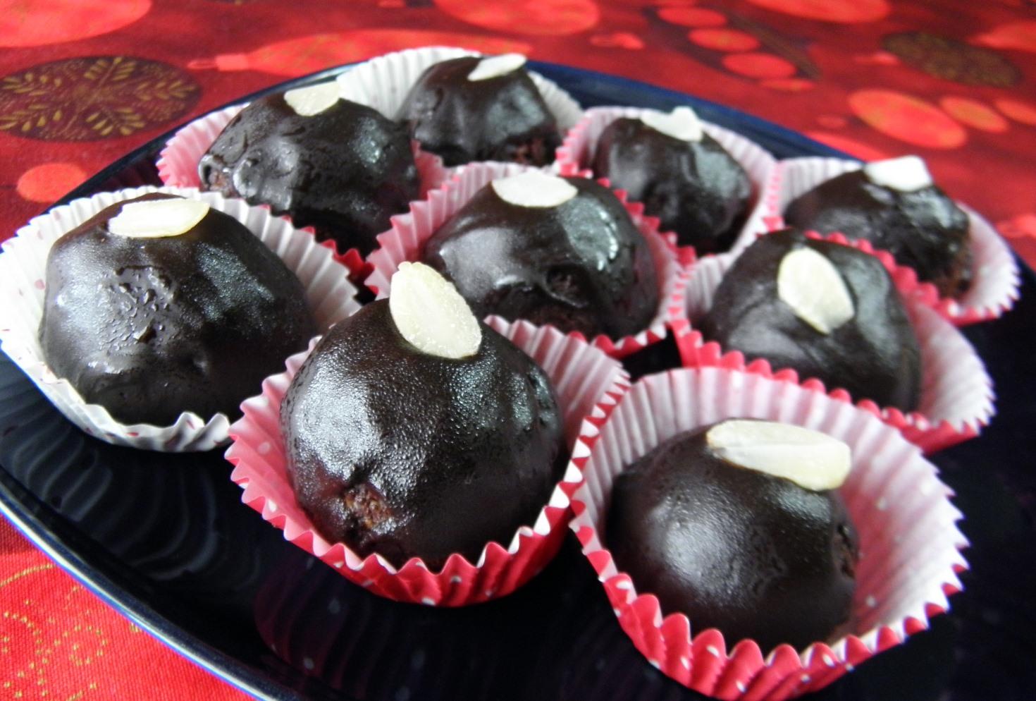 Lanýžové kuličky v čokoládě