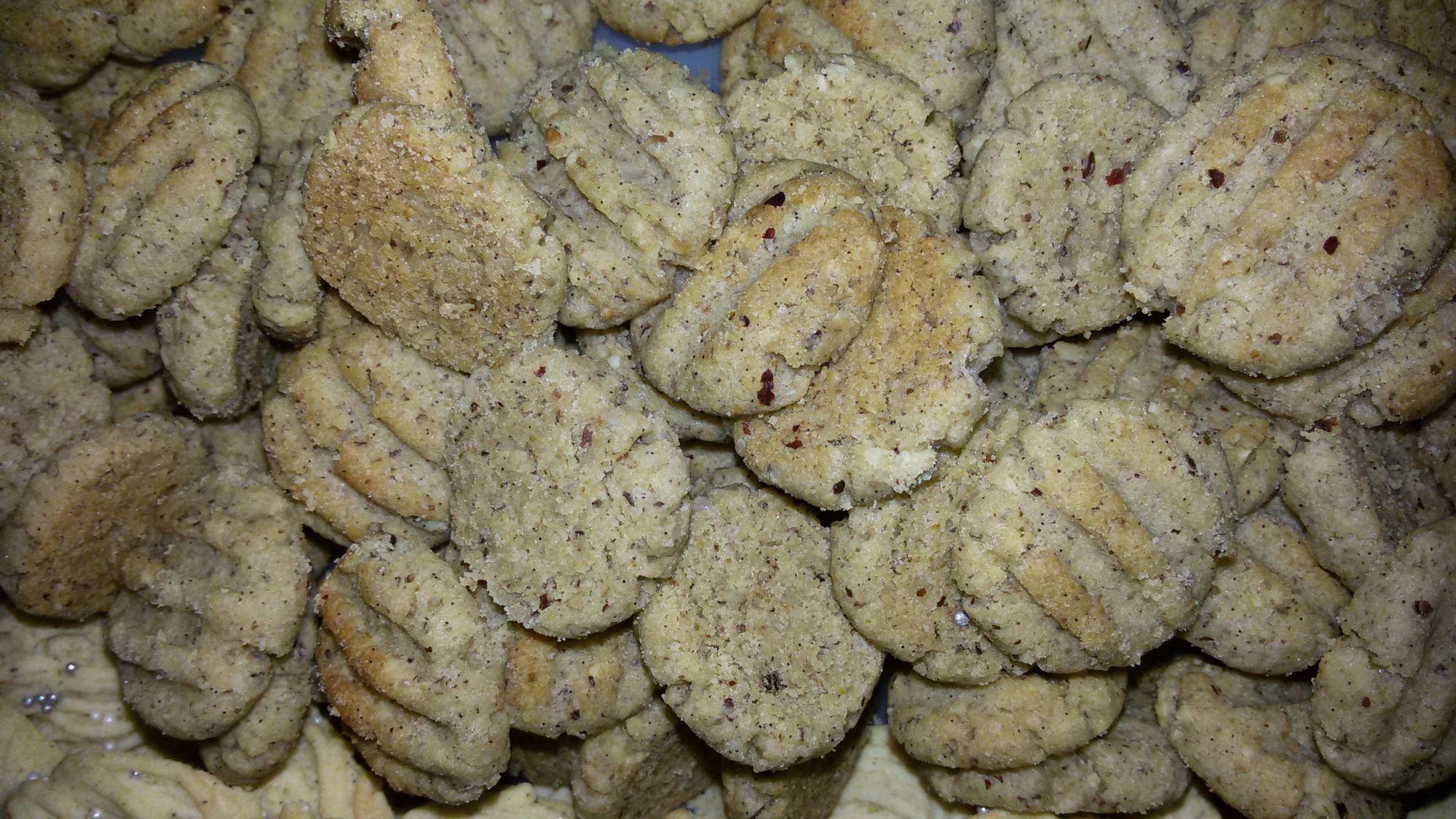 Ořechové cukroví s žitnou moukou