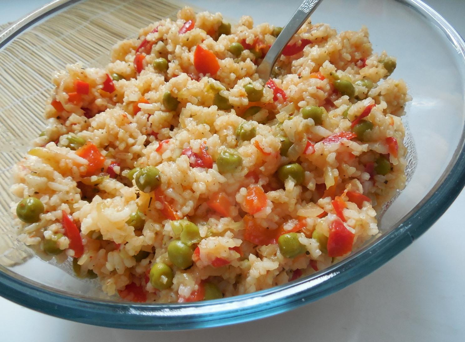 Rýžový salát s cuketou