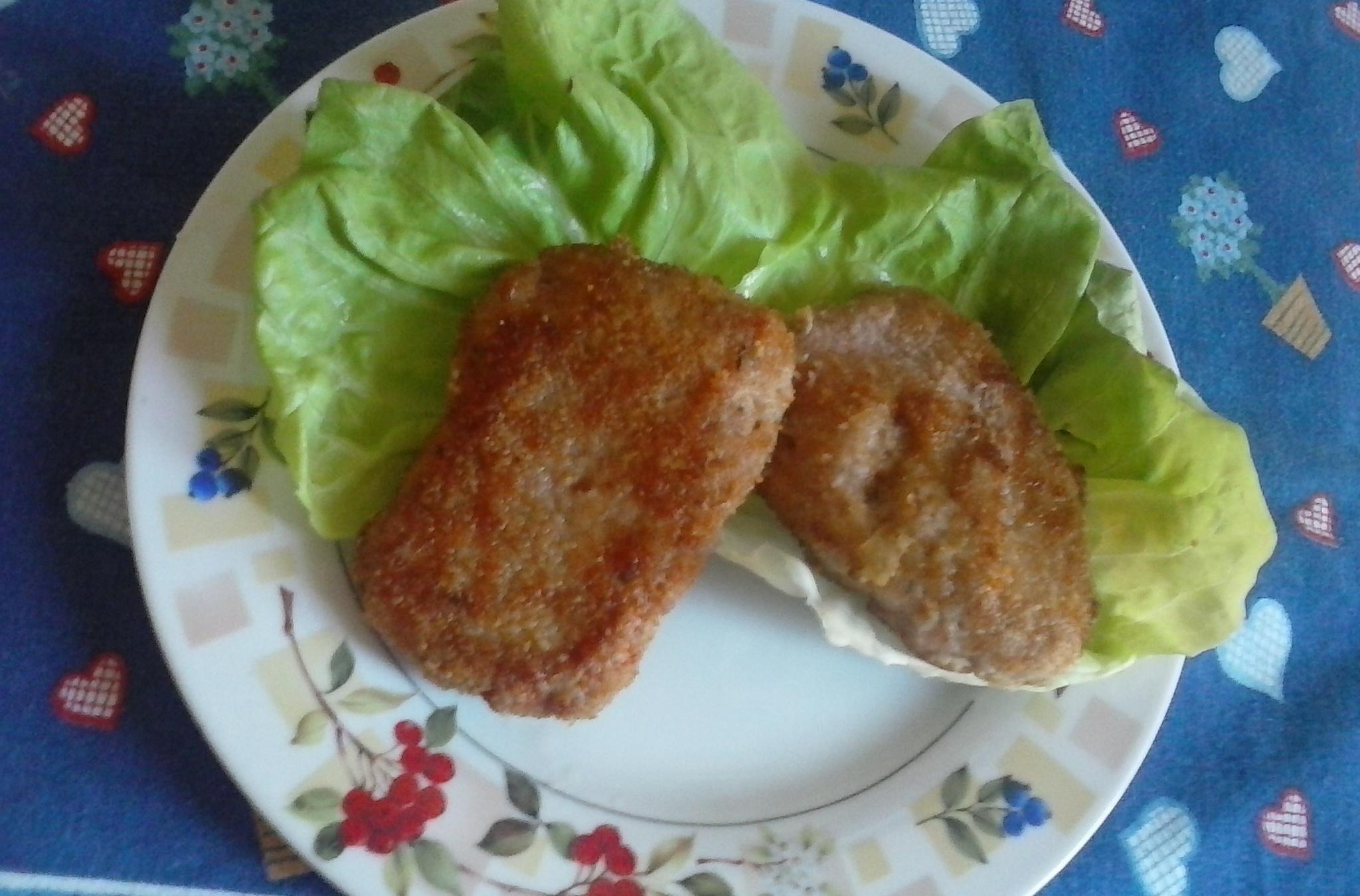 Fotografie receptu: Kuřecí mleté řízky se šunkou a sýrem