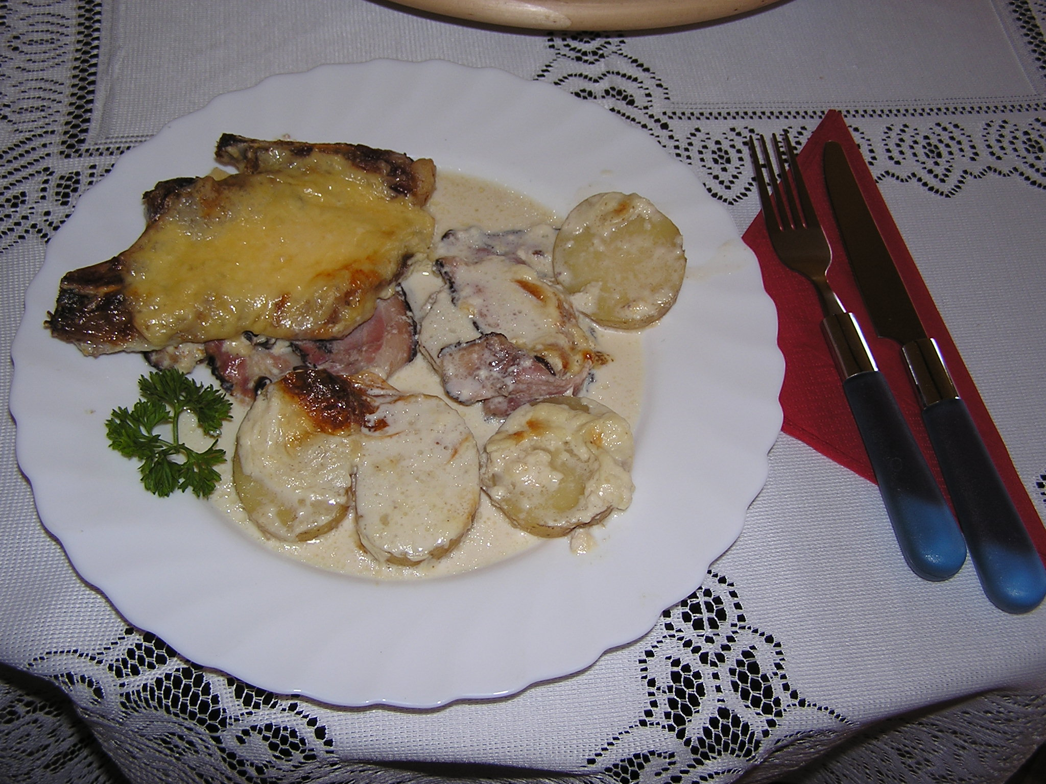 Fotografie receptu: Vepřová krkovice ve smetaně