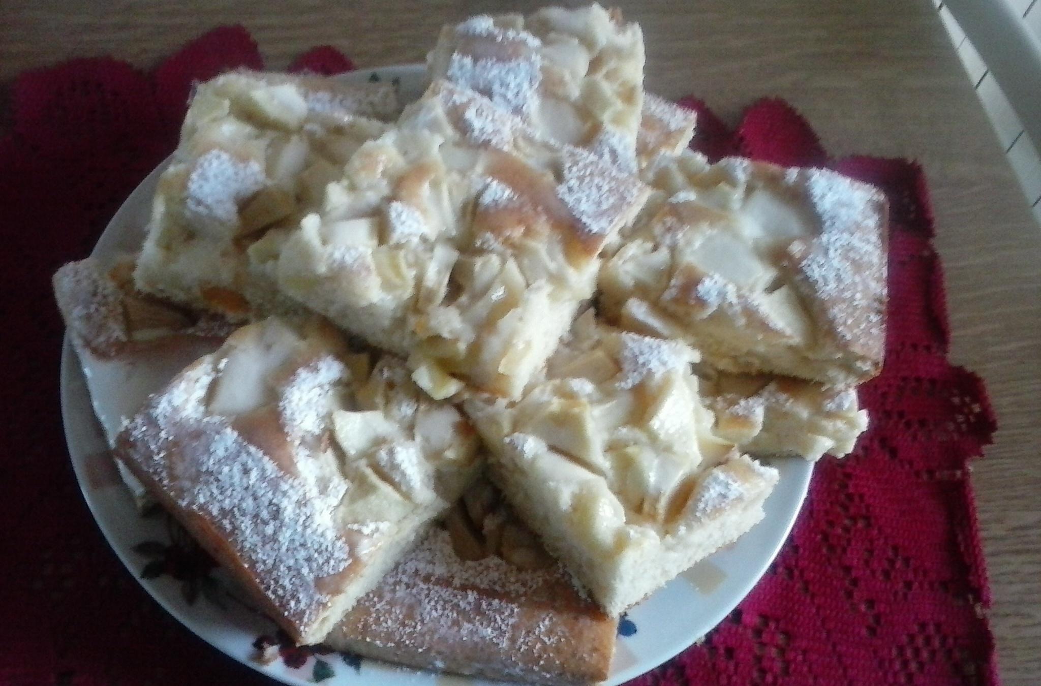 Banánovo-jablečný koláč