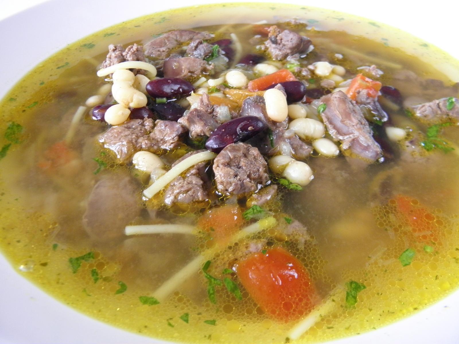 Pikantní játrová polévka