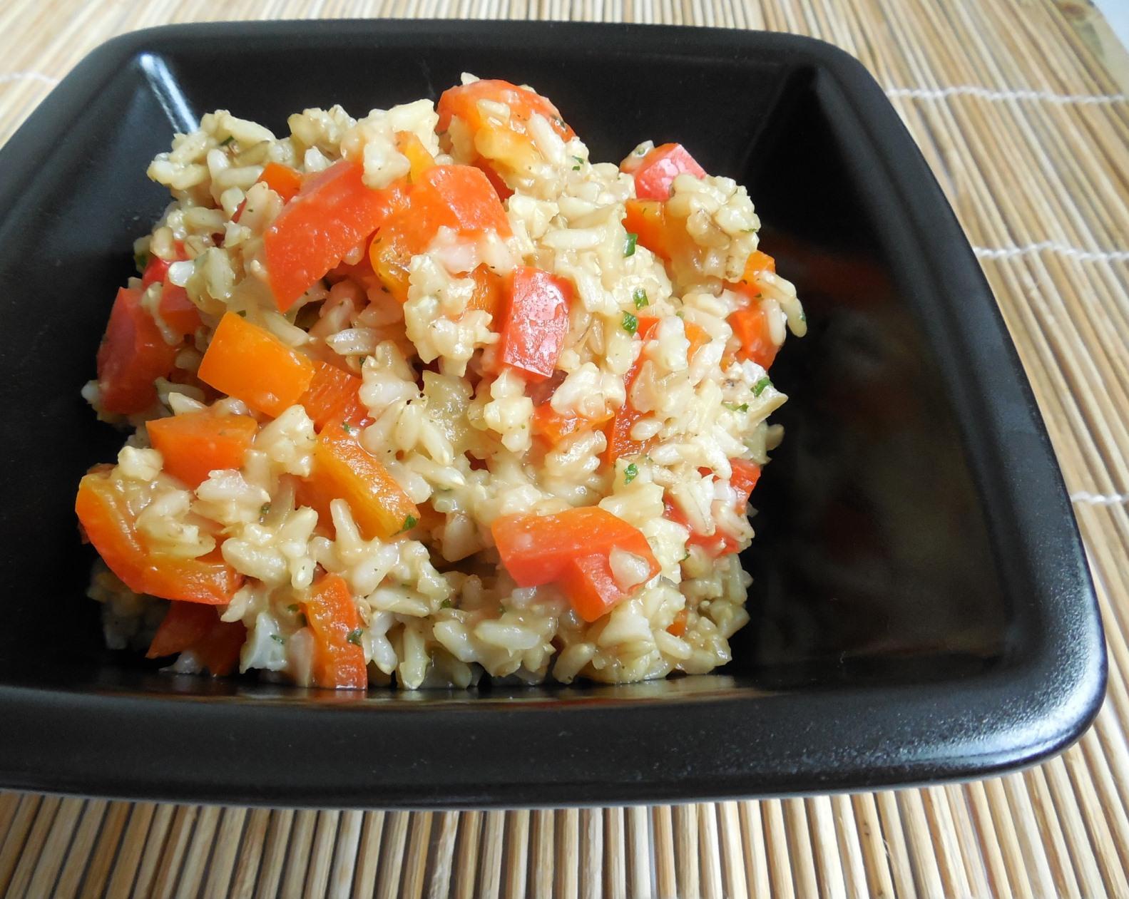 Paprikové rizoto z rýže natural