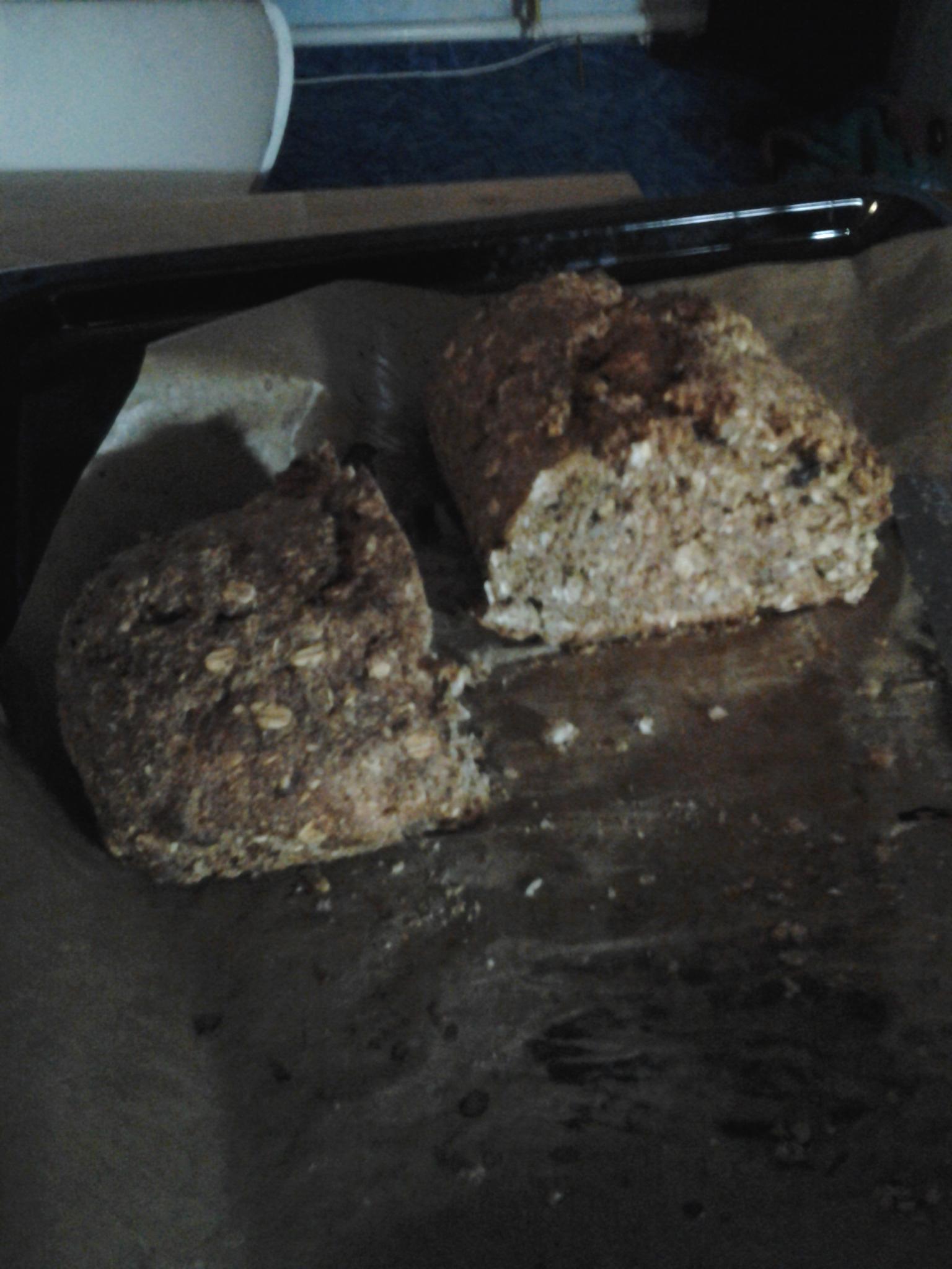 Celozrnný chléb bez kynutí