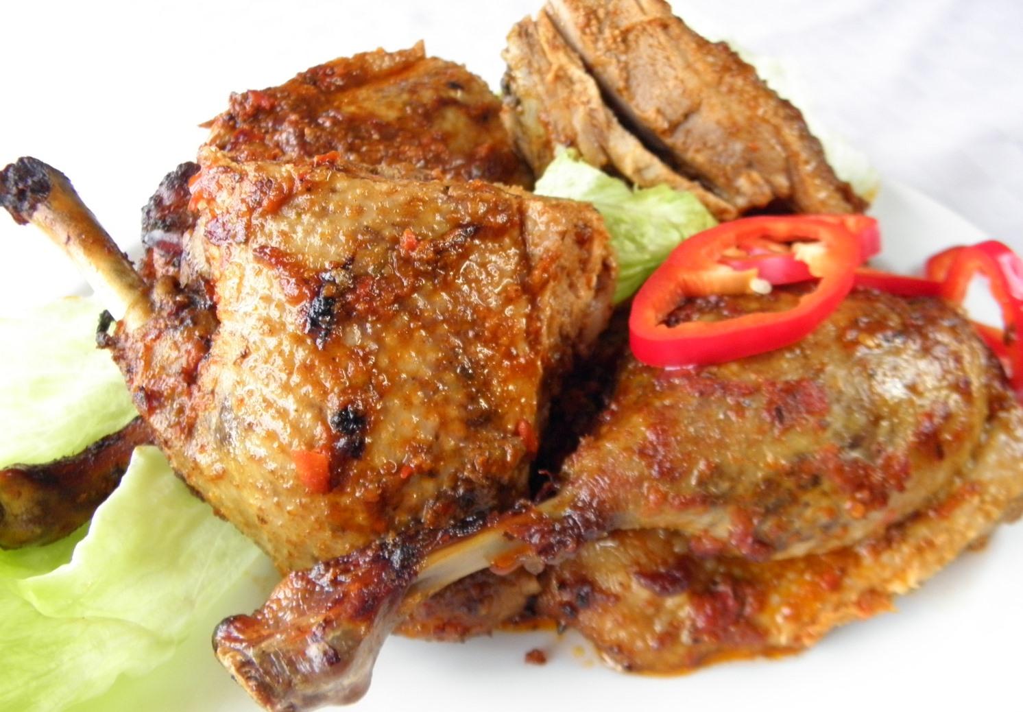 Kachna piri-piri na portugalský způsob