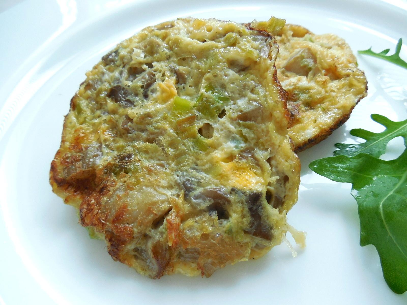 Mini omeletky s hlívou ústřičnou