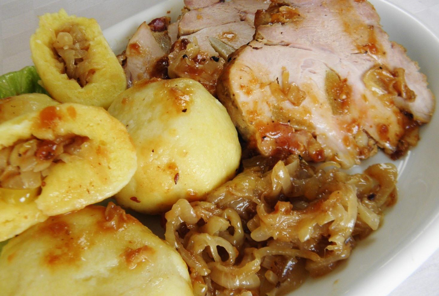 Vepřová pečínka na česneku