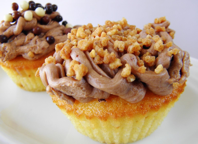 Cupcakes s griliášem a čokoládovým krémem