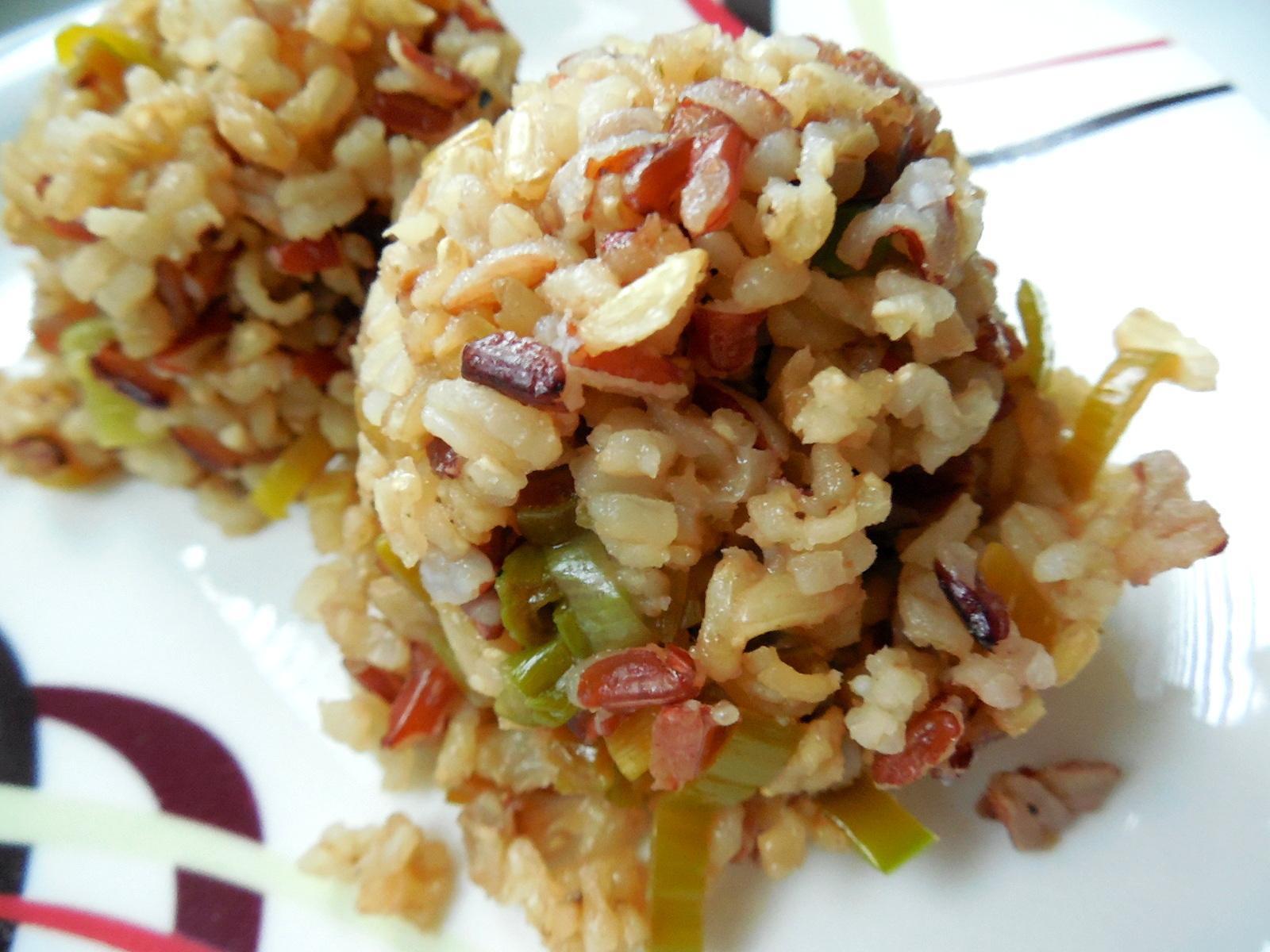 Příloha z tříbarevné rýže