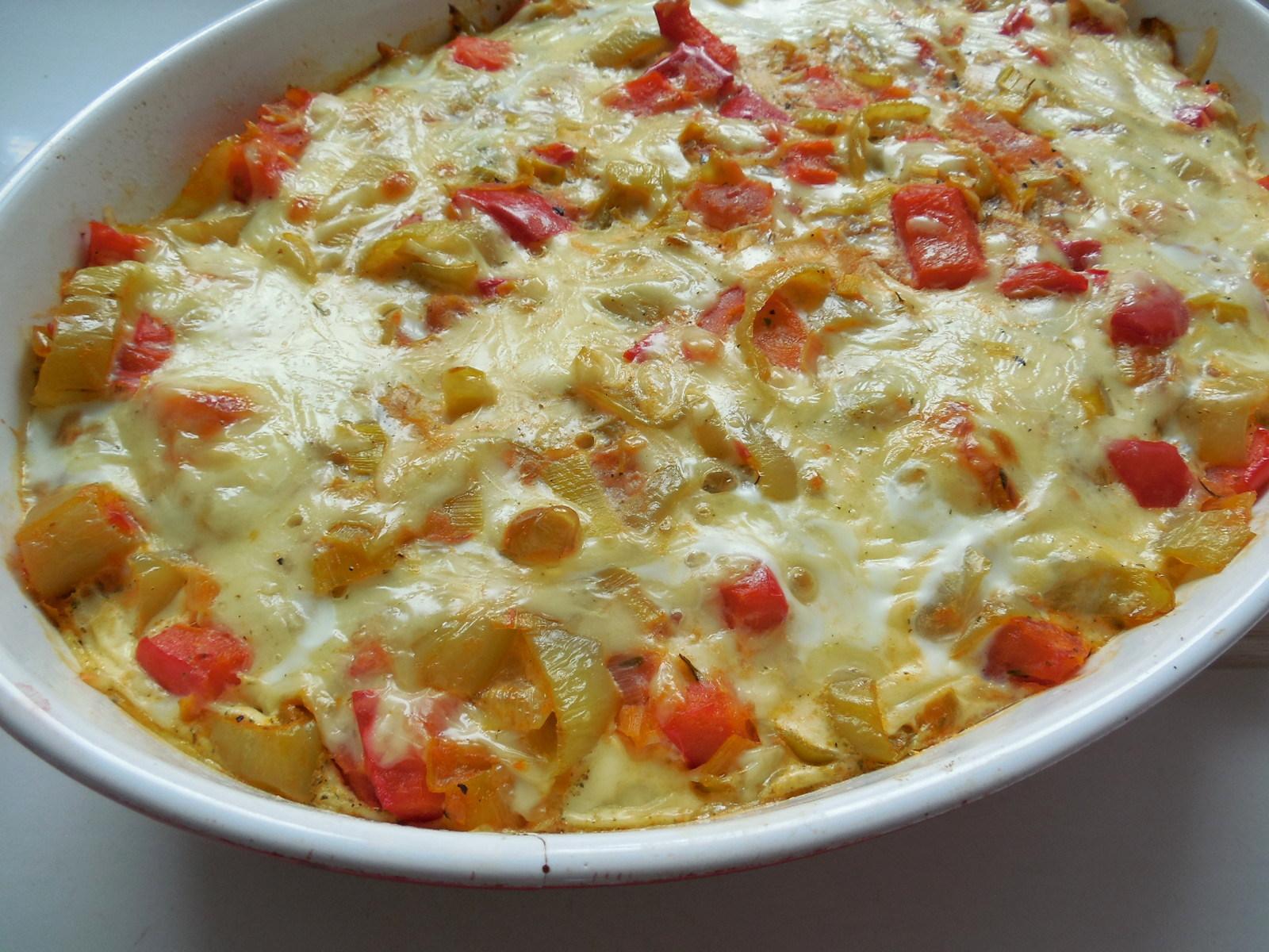 Zapékané zeleninové brambory