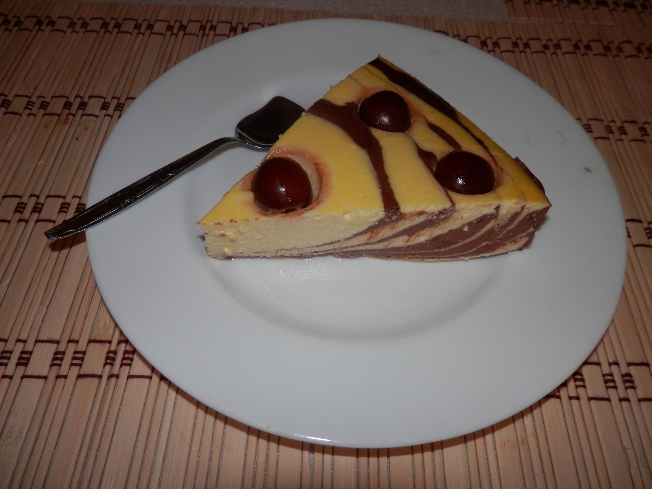 Fitness tvarohový dort