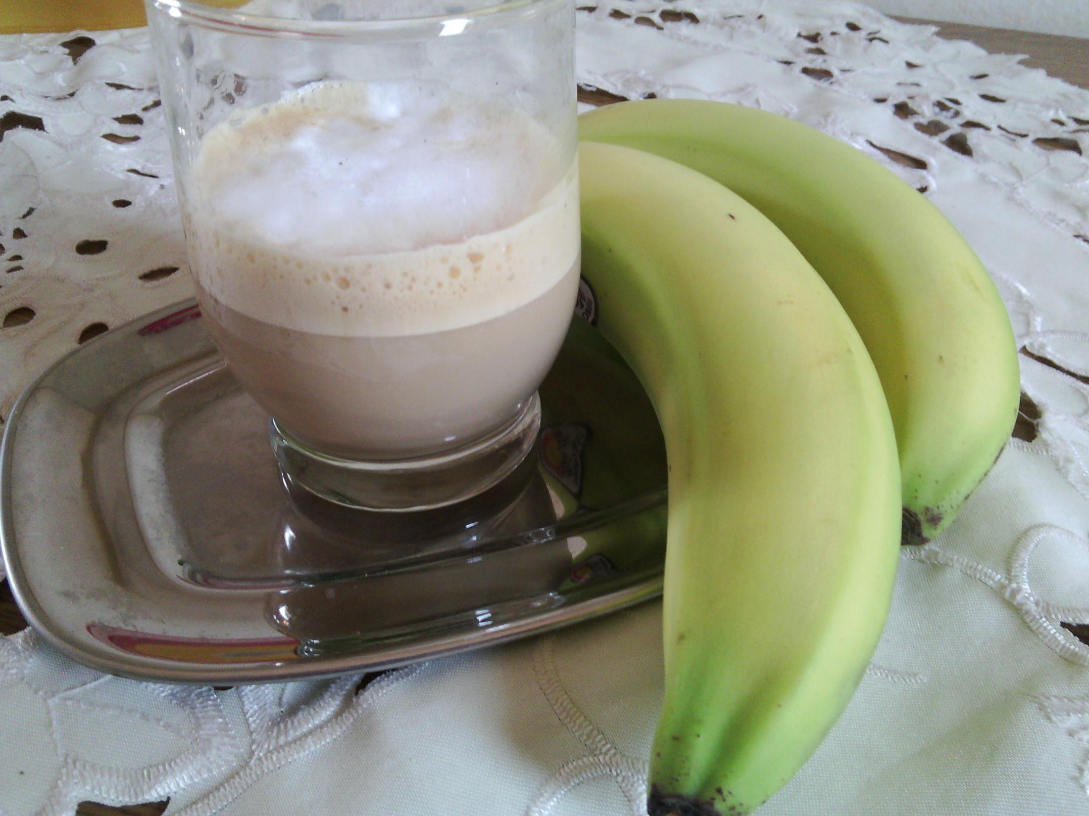 Ledová káva s banánem