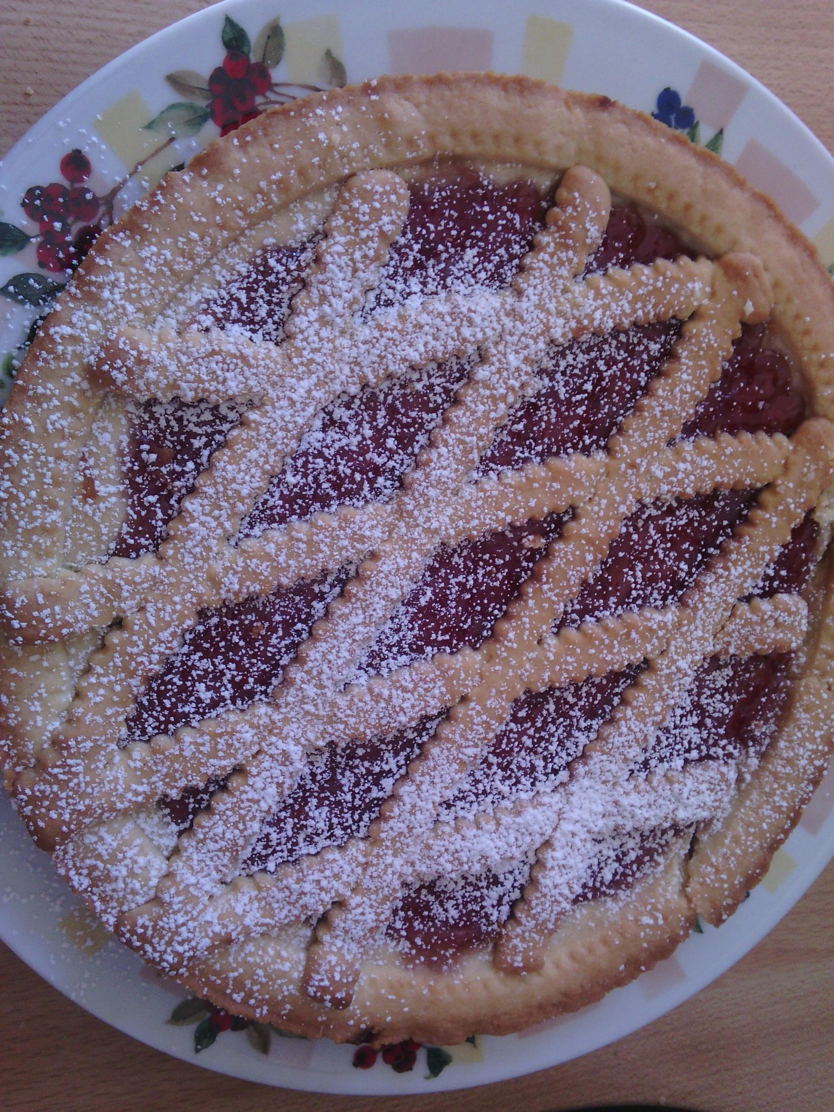 Jogurtová crostata s marmeládou