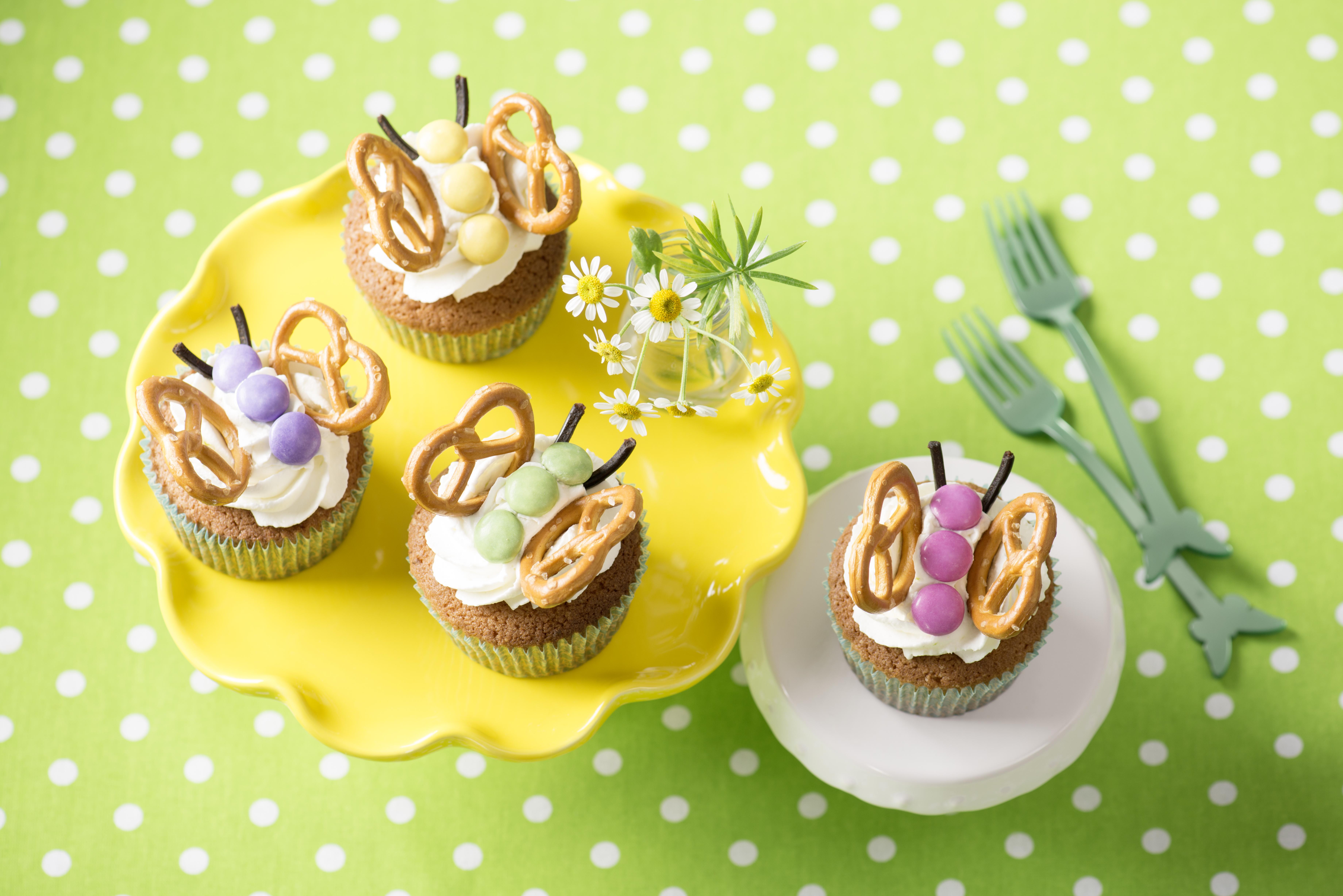 Limetkový cupcake ala motýl
