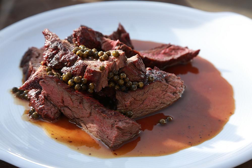 Hovězí steak Yamato na zeleném pepři