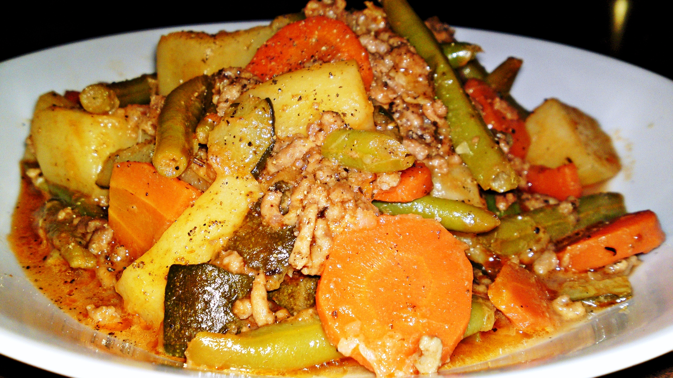 Fotografie receptu: Letní zeleninový hrnec s mletým jehněčím masem