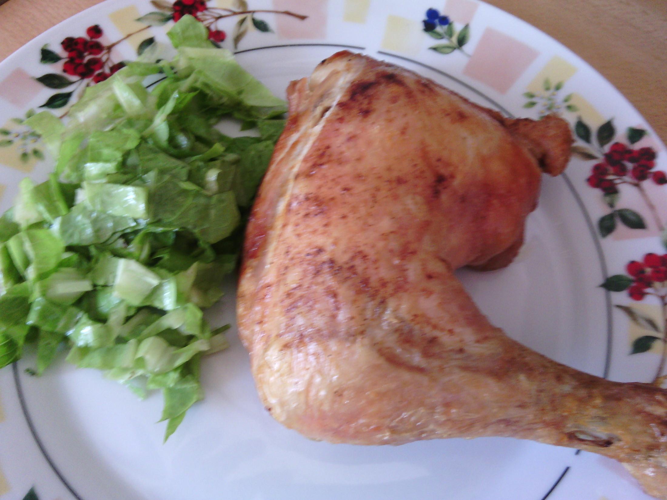 Pečené kuřecí stehno v těstíčku