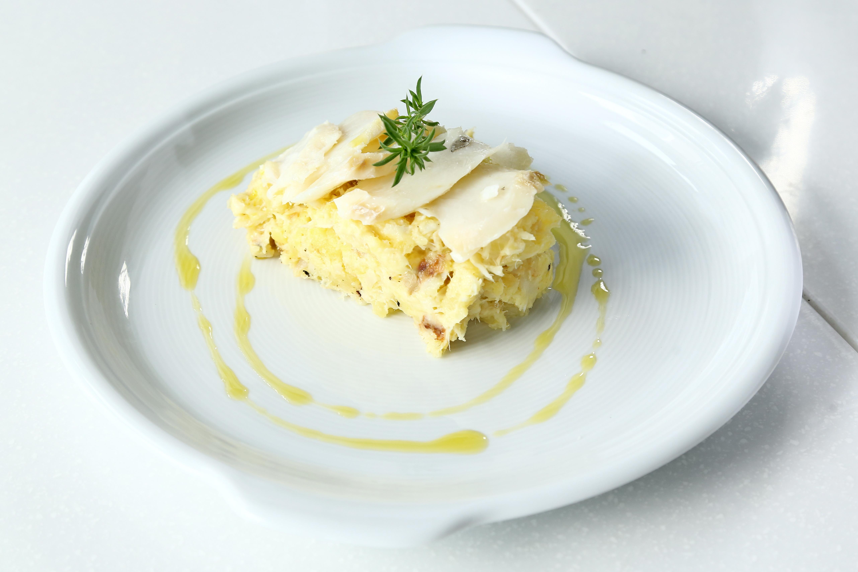Opékaná bramborová kaše se sýrem