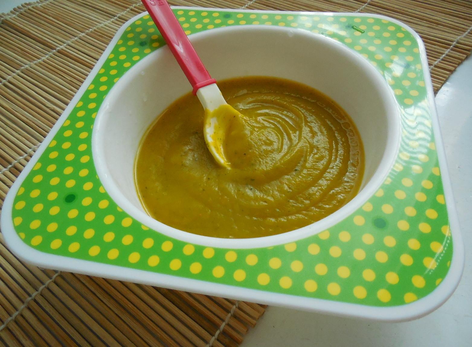 Zeleninový příkrm z dýně a cukety