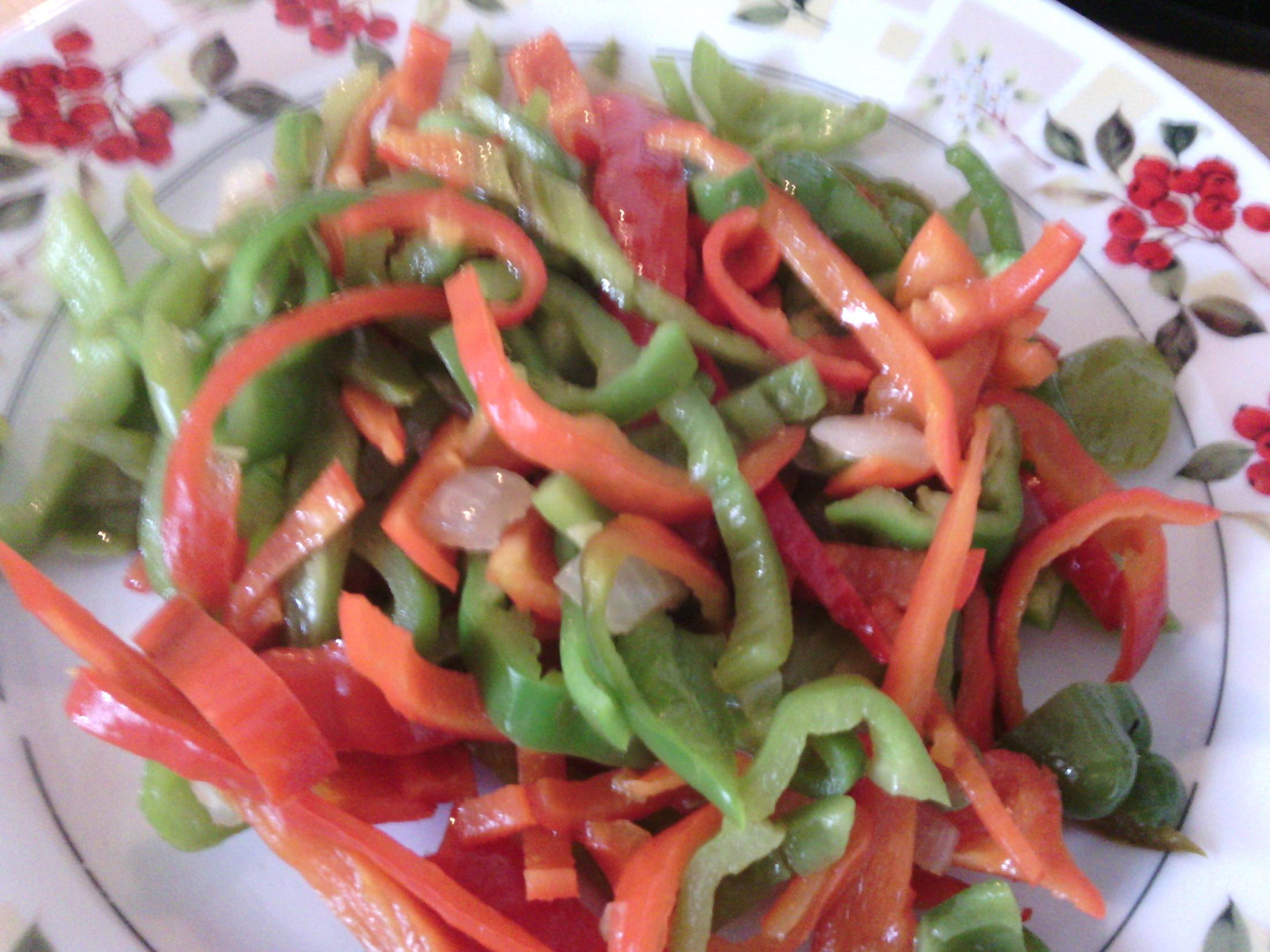 Barevné papriky s likem