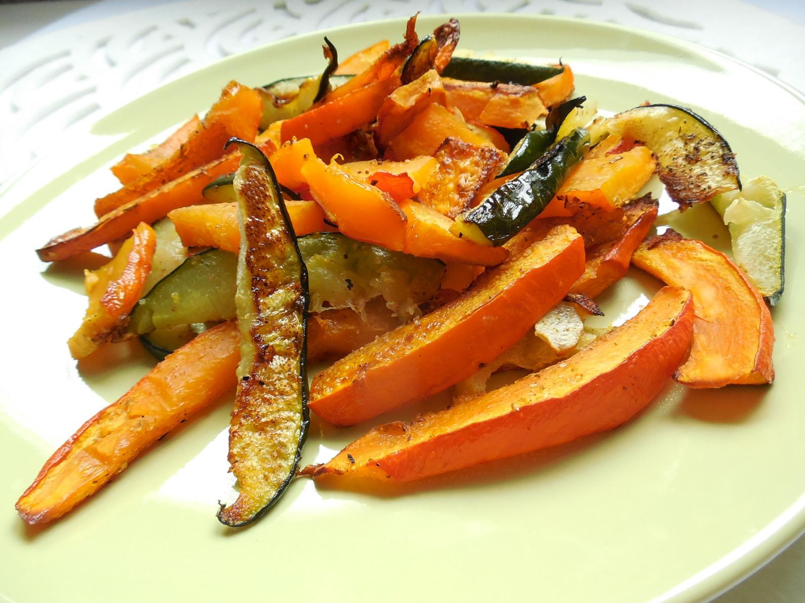 Zeleninová příloha z dýně a cukety