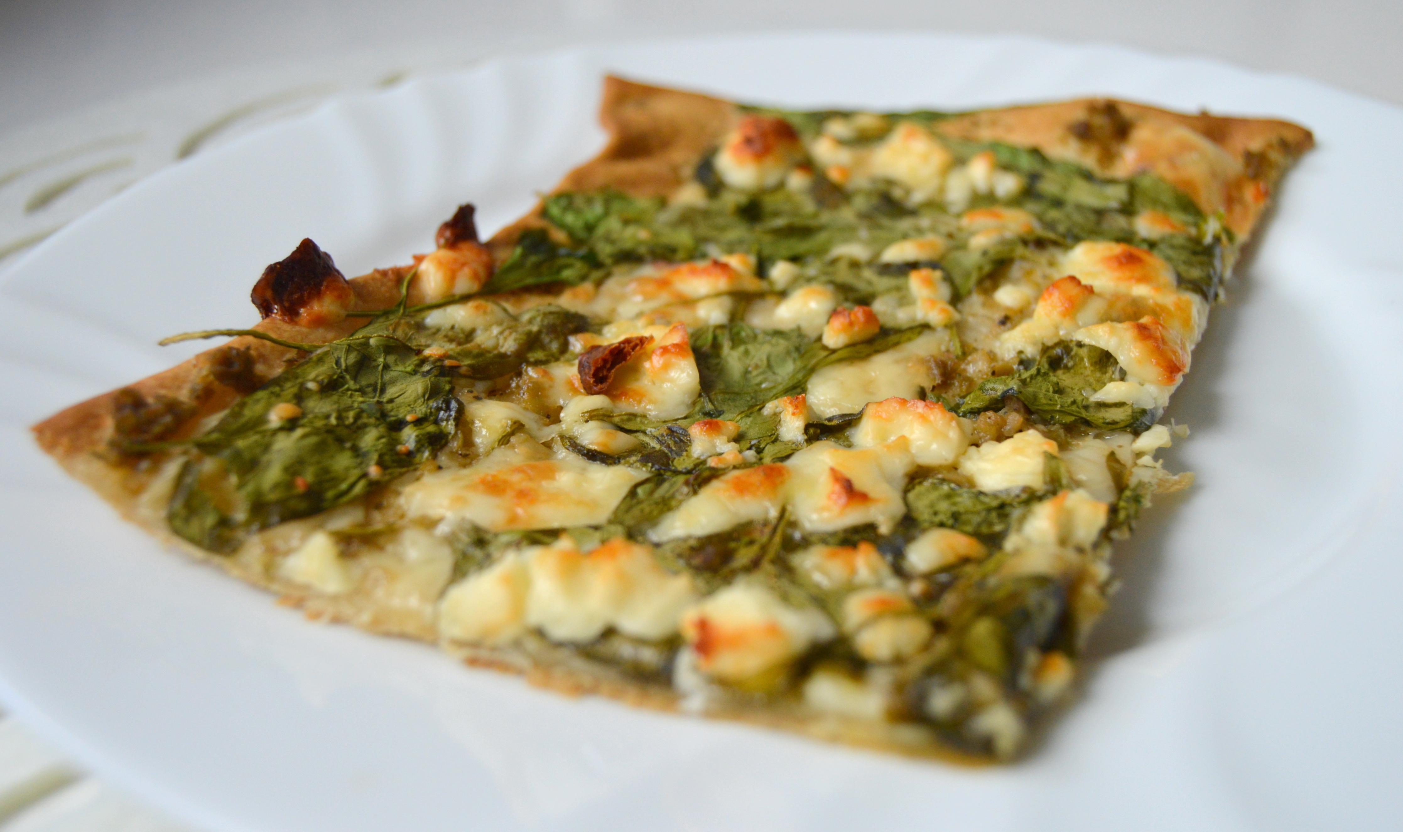 Moje špenátová pizza