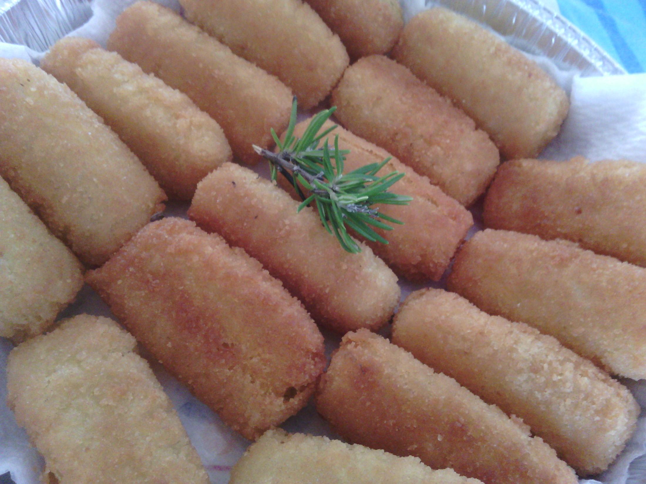 Domácí bramborové krokety s parmazánem