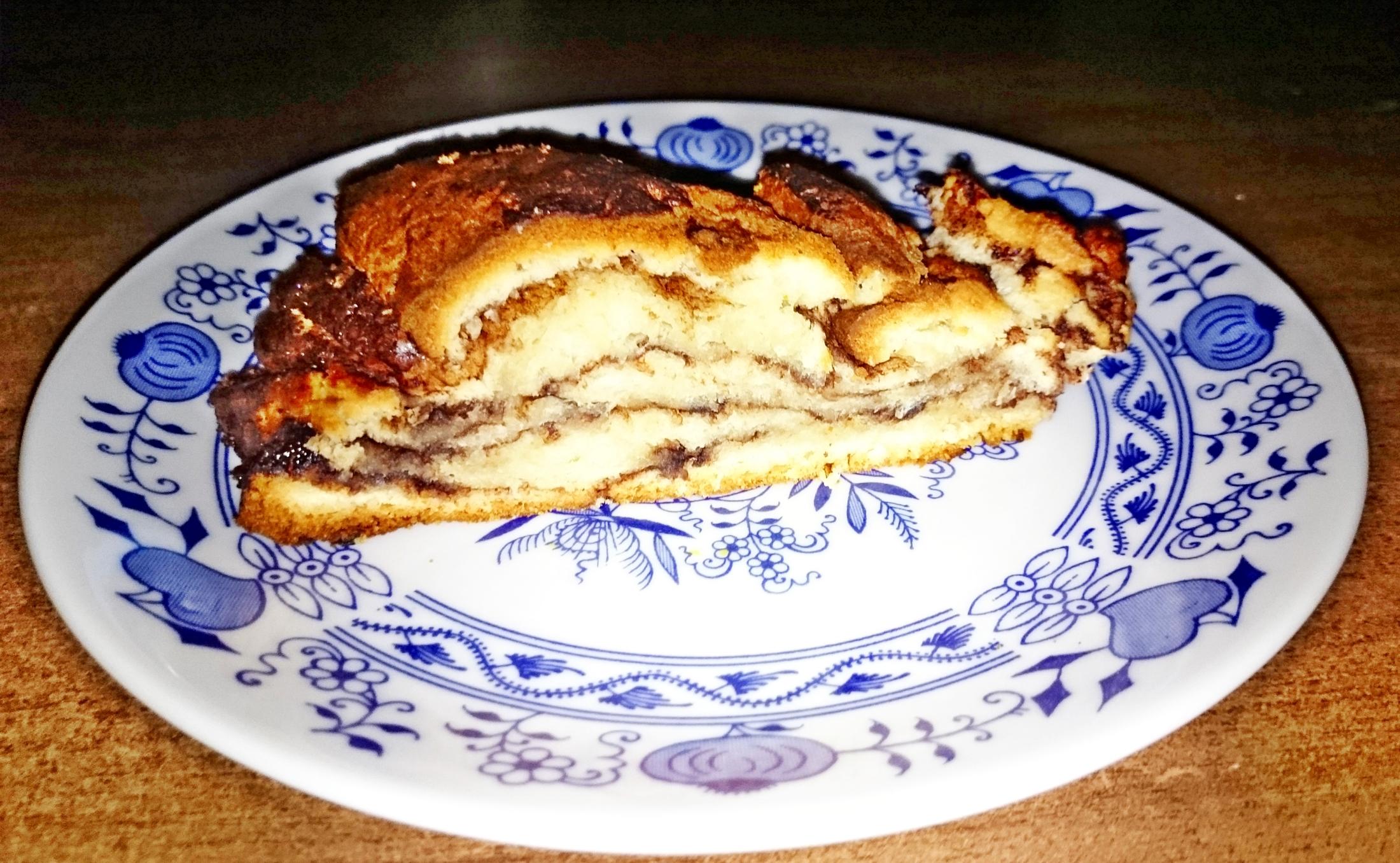 Fotografie receptu: Pletený kynutý jogurtový koláč s kakaem