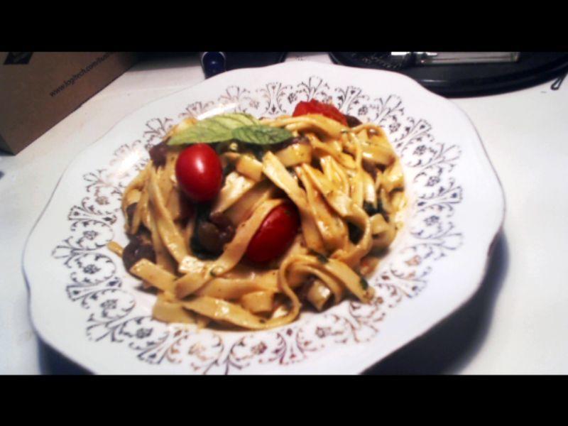 Fotografie receptu: Pasta Crema s krevetami