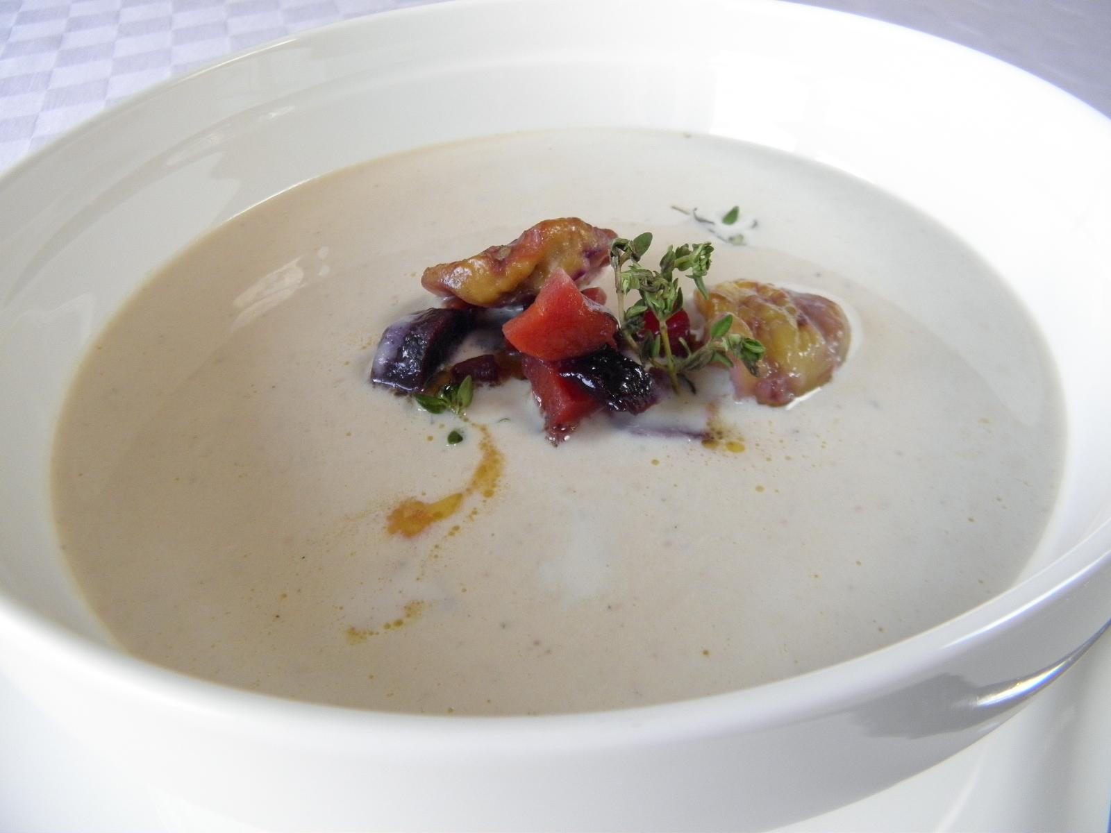 Krémová kaštanová polévka